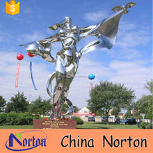 Square large goddess stainless steel morden sculpture NT--SSA044