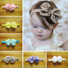 10 colors in stock children <strong>hair</strong> <strong>accessories</strong> 10cm chiffon bows headband for children