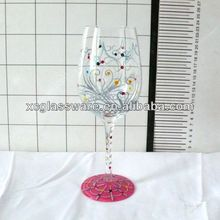 Good Quality birthday wine glass with hand painting
