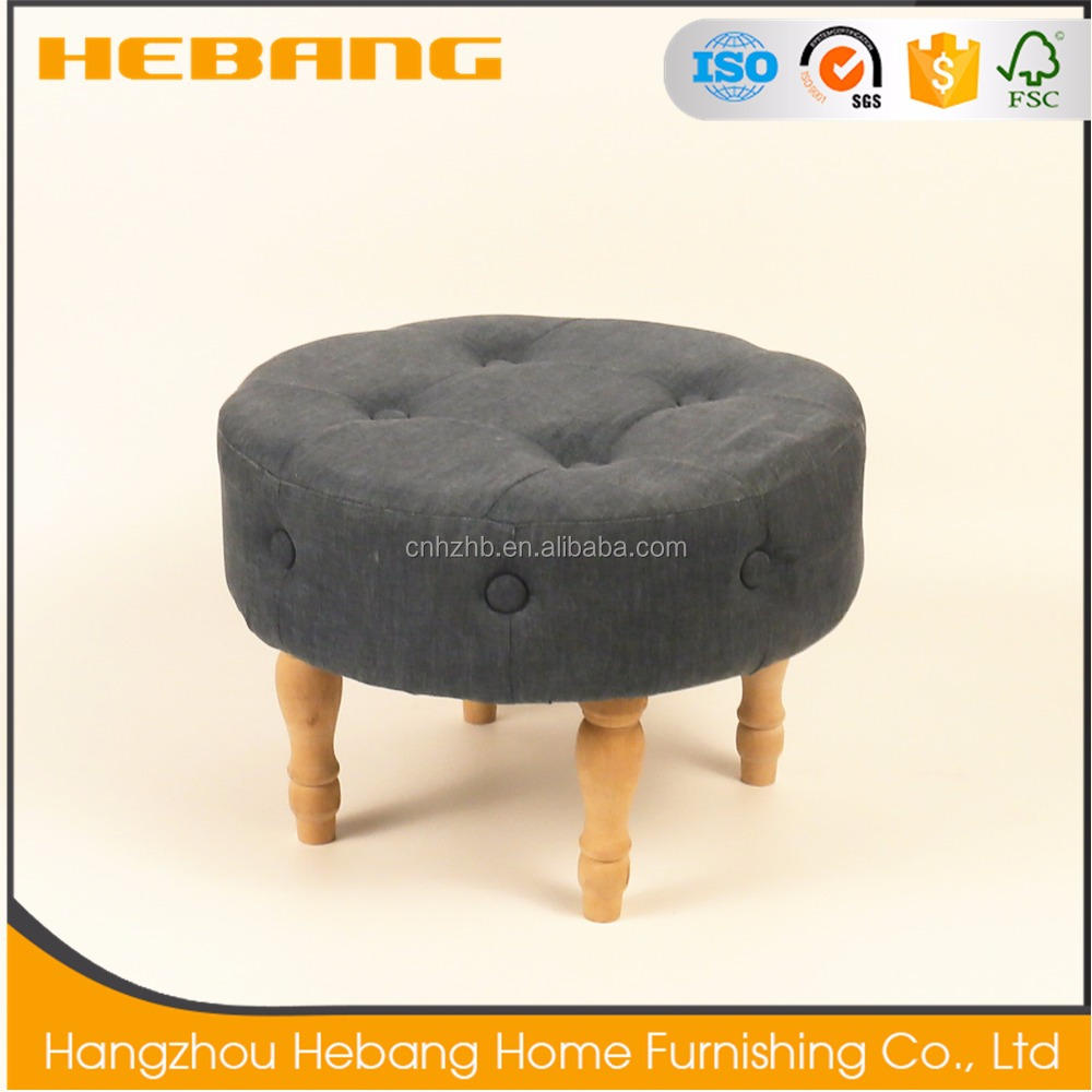 2017 new design high quality Removable low wooden foot home stool ottoman
