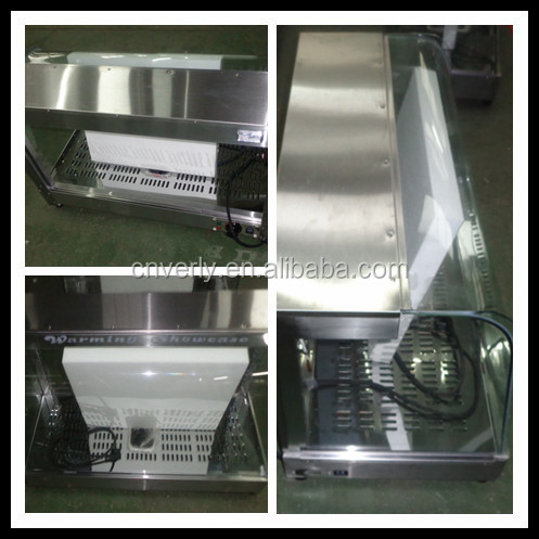 Stainless Steel Food Warmer Display Showcase With Glass Restaurant Food Warming Showcase BV-863