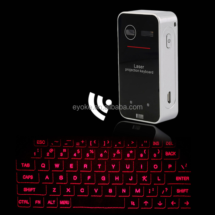 Mini portable Infrared Virtual Bluetooth Projection Laser Keyboard for smart phones and pad