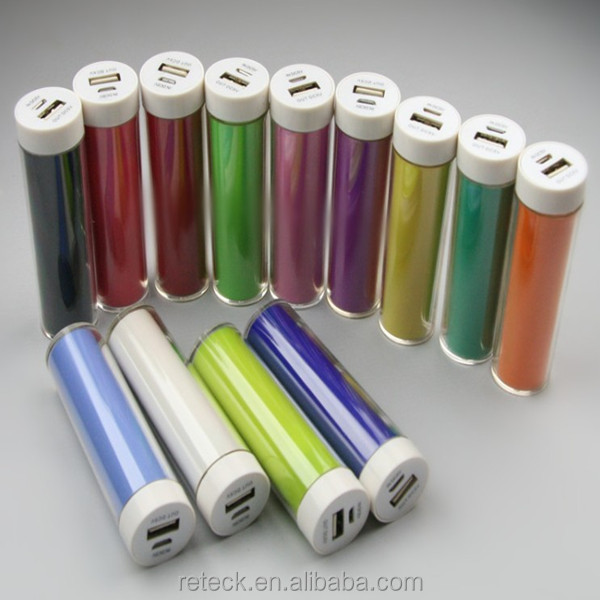 universal portable lipstick power bank /battery charger