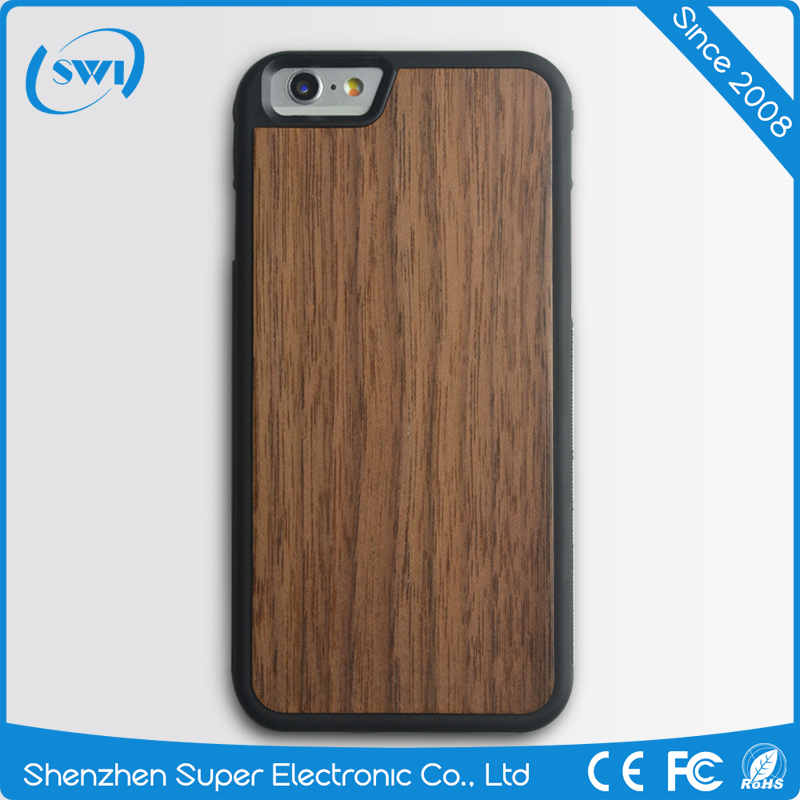 Mobile Phone Wood PC Back Cover Case For iphone 6S