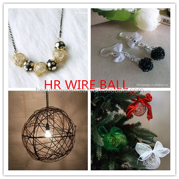 China product Chinese New Year decor for colored wire balls