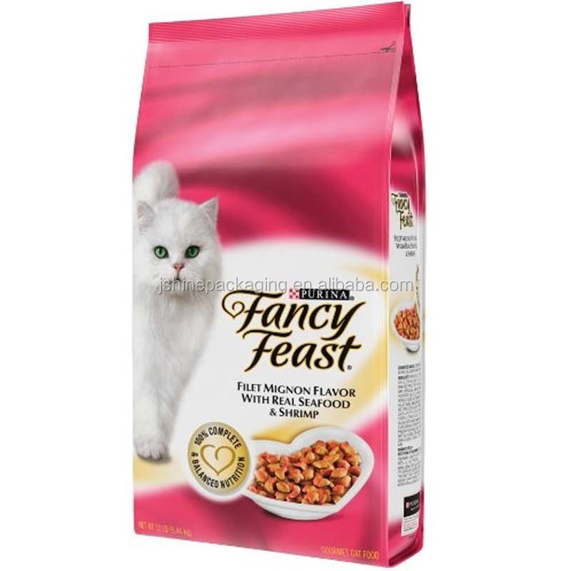 quad seal cat food pouch
