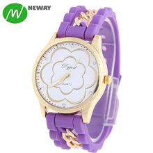 New Fashion Fancy Silicone Quartz Ladies Watches
