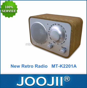 Hot Selling Portable AM FM Retro Wooden Radio