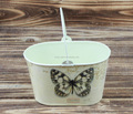 2015 garden decoration paper decal butterfly metal pail wholesale
