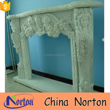 high quality religious angel marble fireplace hearth slabs NTMF-F534X