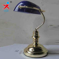 Buy green lampshade banker desk lamp in China on Alibaba.com