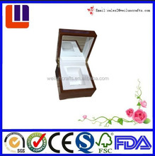 Wholesale cheap price square gift MDF wooden jewelry box