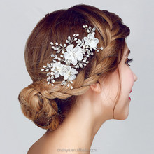 Hot sell beautiful bridal accessory floral hair clips fashion wedding hair accessories for bride