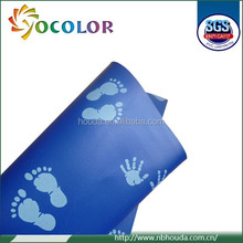 New design lovely little feet durable Printed Pvc artifilicial Leather
