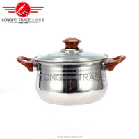 2016 longfei wholesale Stainless Steel Stock Pot Cook Pot Soup Pot