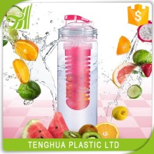 Clear Plastic Fruit Infuser Cycling Custom Shaker Drinking Water bottle
