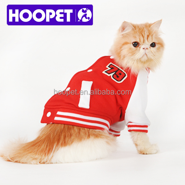 Pretty pet dog clothes sports baseball coat