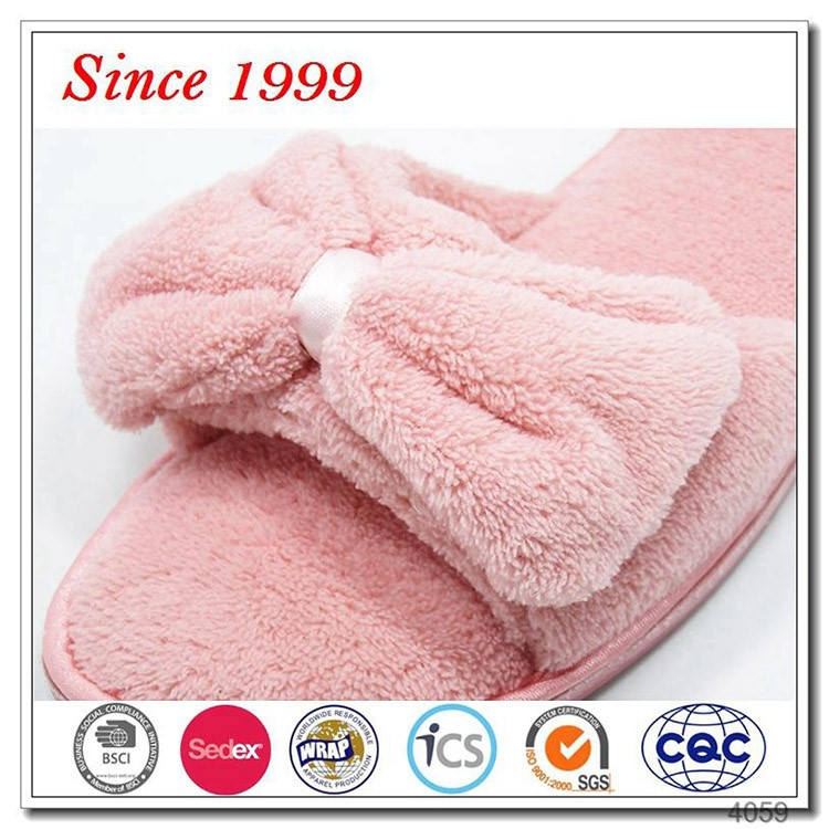 Latest design new model customize washable spa slippers wholesale