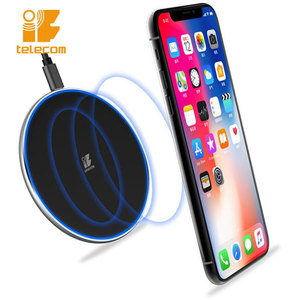 Slim wireless fast charging pad. power bank & wireless charger. portable power source. LED indicator wireless charger. FOD .