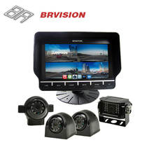 7 Inch Tft Lcd Hd Video Quad Dvr Car Monitor Bus/coach/trailer Large Screen Split Display Monitor 24v