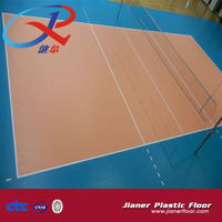 CE BV ISO approved plastic floor indoor volleyball court pvc floor mat