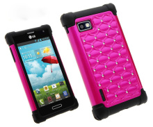 In the case of mobile phones,Hard Plastic Diamond Bling Phone Case for LG Optimus F3 LS720