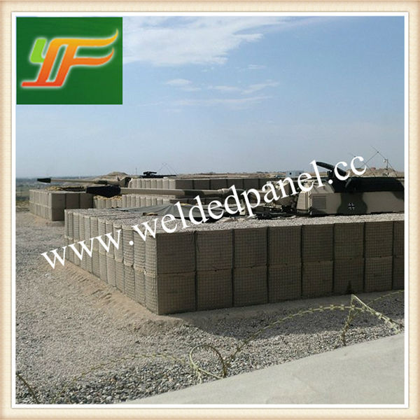 Seabees fill hesco barrier wall/ Welded Hesco Gabion/Security Bastion