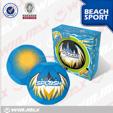 High class orange/blue/black neoprene beach soccer ball in gift box,funny beach balls in bulk