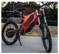 "26""*3"" fat wheel, full suspension, red enduro bike frame with triangle battery"