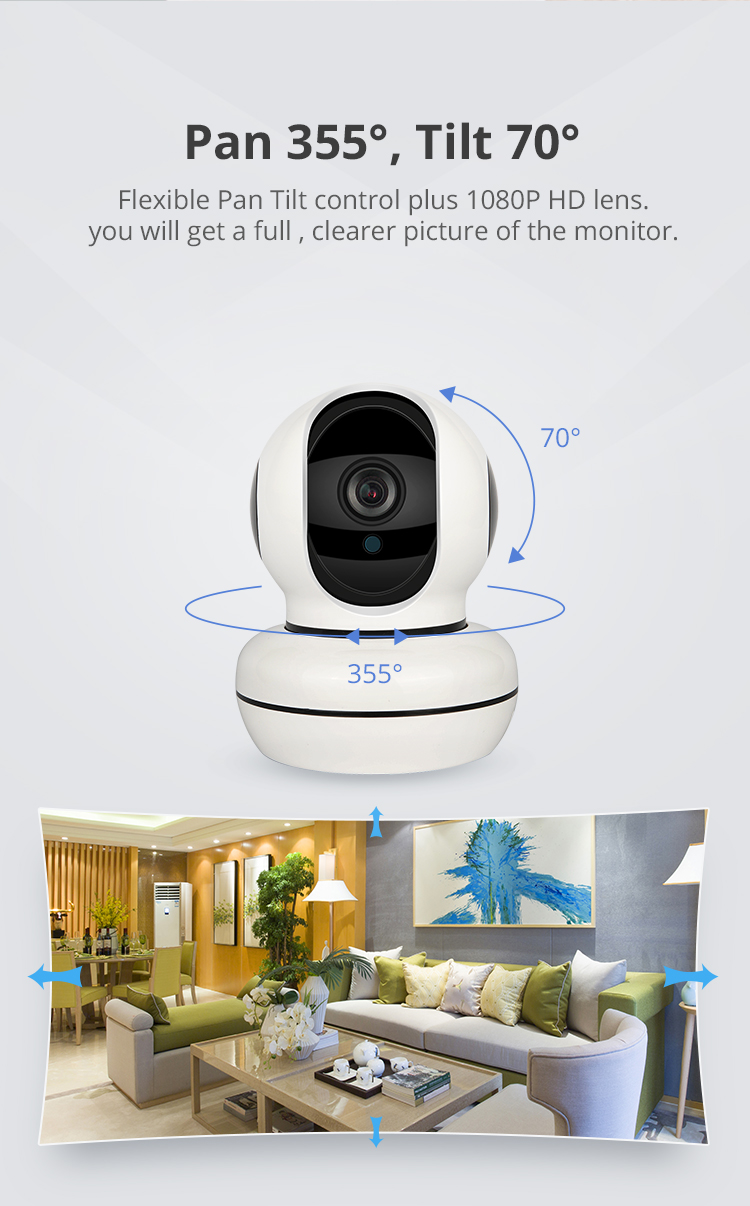 HD 1080P Home Security CCTV  Wireless Surveillance Motion Auto Tracking WIFI IP Camera