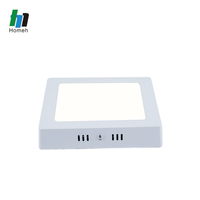 18 watt surface mounted small round fire rated max lumens led panel light with aluminum frame for kitchen