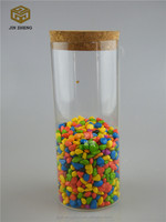 1000ml (factory) wholesale christmas Straight sided cheap clear candy glass jar with glass lid