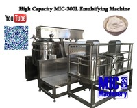 With 2016 Latest Touch Screen MIC-300L Vacuum Mixing Tank Emulsifying Machine Homogenizer Price for Cream Making