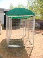 2015 hot sale! 3.0x3.0x1.8m hot dip galvanized dog kennel dog cage pet cage