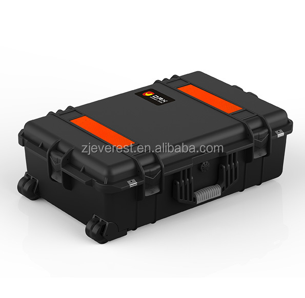 High impact dustproof equipment case with custom PVC Sticker Logo
