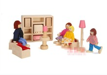 Queena Pink Wooden Toy Doll House For Kids Wooden DIY Toy