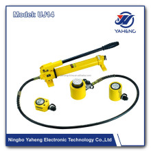 Ultra thin type hydraulic jack UJ14 electric screw yellow hydraulic lifting car jack Wheeljack made in china ningbo