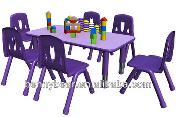 Children Furniture Adjustable Height Table And Chair For Kindergarten