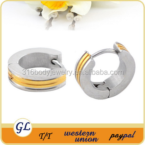 New arrival Polish by hand gold plated stainless steel earrings bangkok jewelry