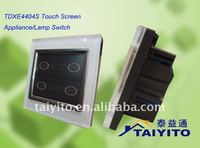 TDXE4403S Touch Screen Fluorescent Lamp Switch/wall Switch for lights / remote control Touch Switch