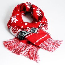 Factory Custom Fashion men's women knitting jacquard two layer two sides winter scarf