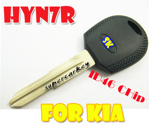 Kia Transponder Key With 46 Chip HYN7R Right Side