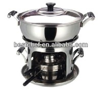 stainless steel Mini hot pot cooking pot hot pot for single