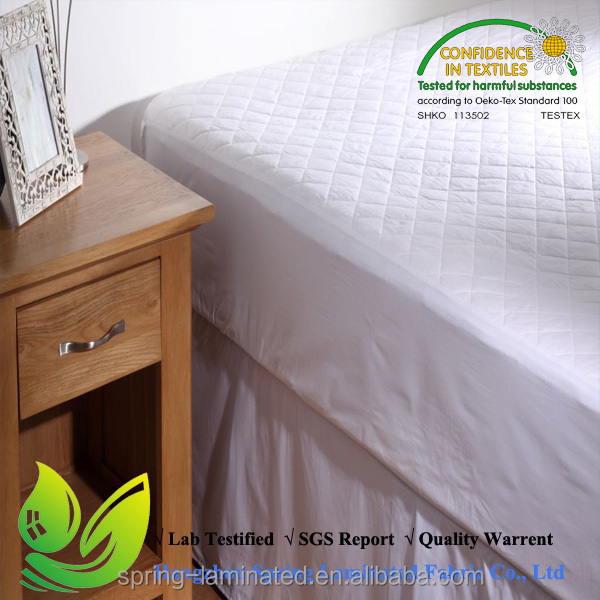 Wholesale hospital hotel queen king bed fitted mattress cover pad microfiber quilted mattress