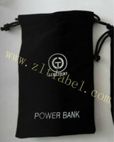 custom black small cloth bags for household using