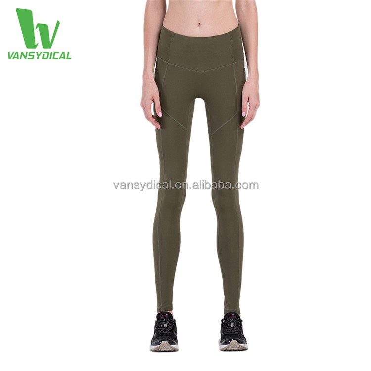 Women's Compression Tights Pants Running Fitness Leggings Workout Legging With Pocket