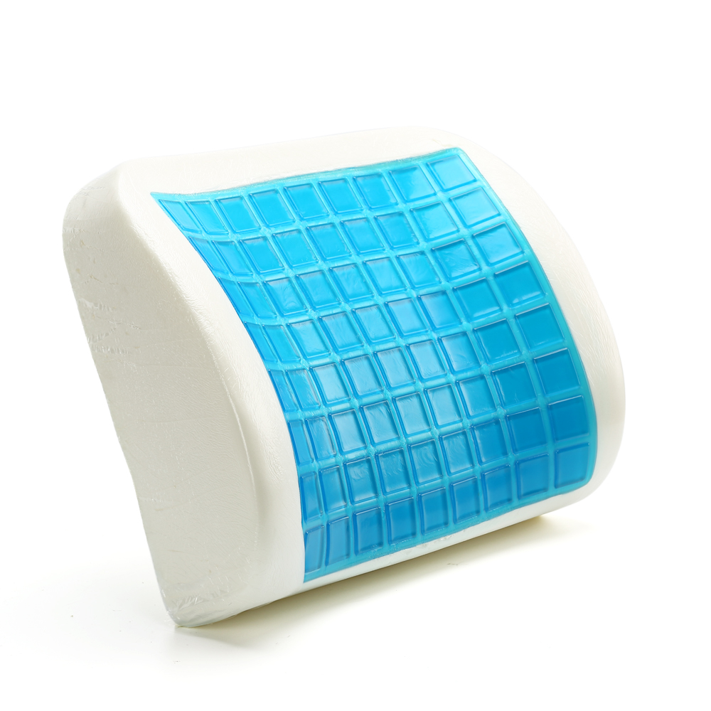 Newest Design Memory Foam Gel Seat Back Pu Lumbar Support Cushion