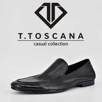 Italian handmade genuine leather super soft and fashion semi casual shoes