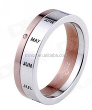 China Manufacturer Stainless Steel Twis Style Calendar Rings