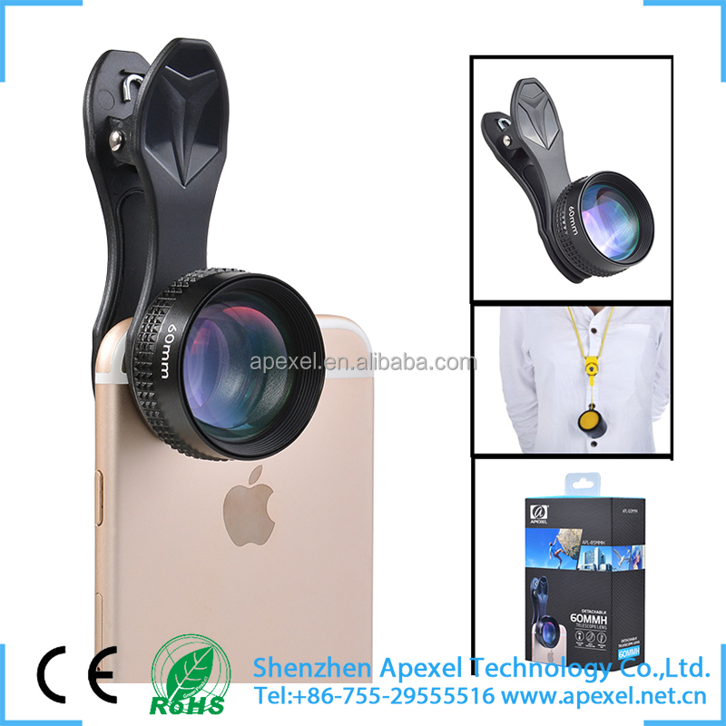 camera lens optical telescope glasses universal clip HD 2x telescope zoom lens